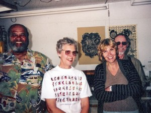Greg Edwards, Jean Sandstedt Conner, Pat Squires and Bruce Conner