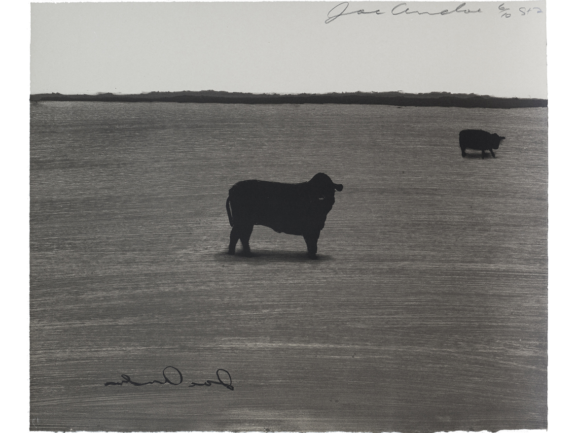 Untitled, State I (2 Cows with Signature)